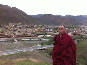 Jigme Gyatso, who assisted film-maker Dhondup Wangchen, for his documentary film 'Leaving Fear Behind' in 2008. (File Photo)